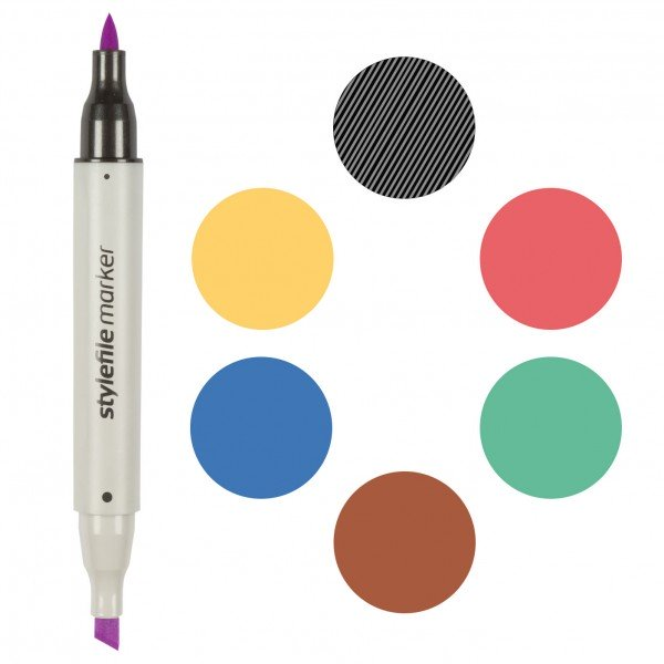 Stylefile marker brush Zeichenstift / Retuschierstift