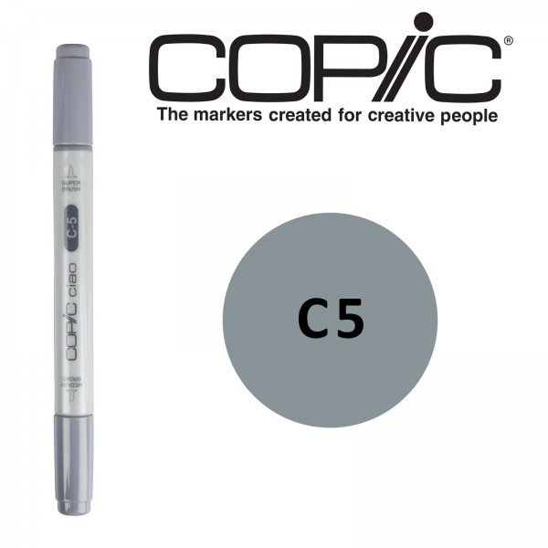 Copic ciao Retuschierstift - C5 - Cool Gray No. 5