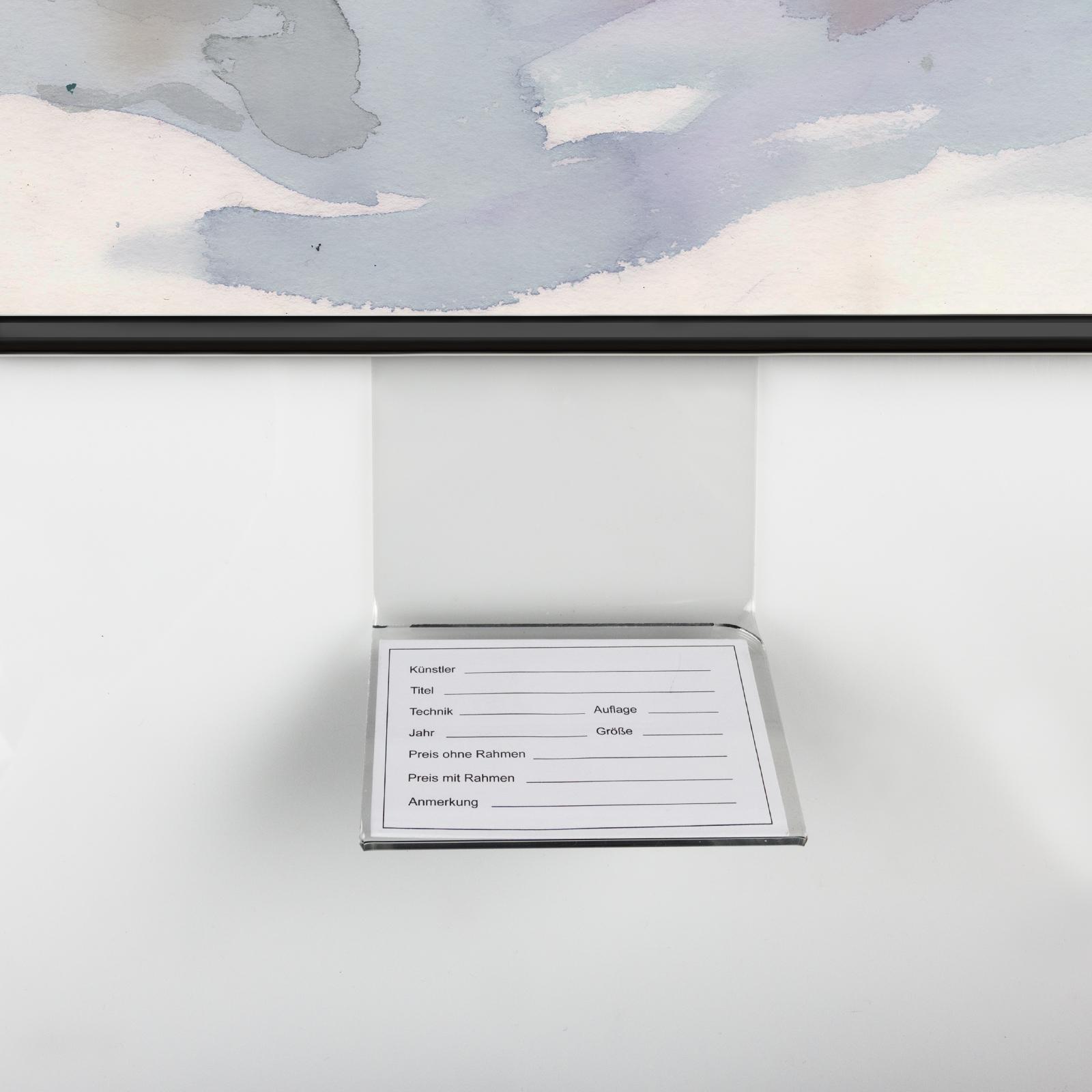 Preishalter / Schildhalter aus Acrylglas für Alu-Rahmen, gebogen ...