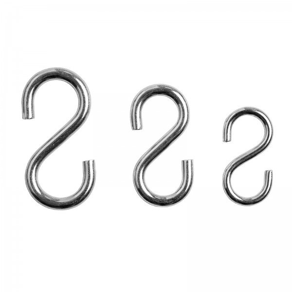 S-Hook for chains and grid walls - 100 pieces