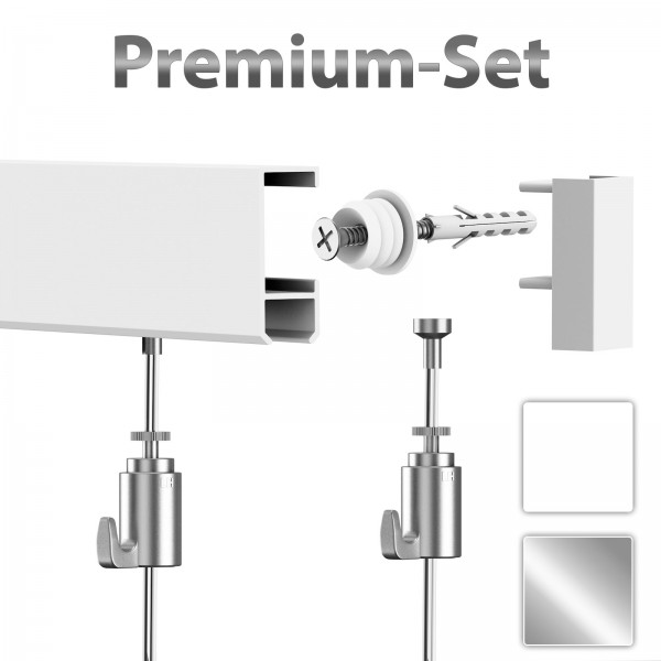 Leha Gallery Rail Hanging Set Premium
