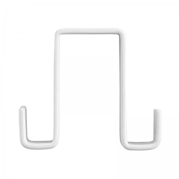 Double-sided Hooks for exhibition walls, white